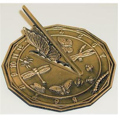 Rome Industries 1820 Brass Colonial Sundial Solid Brass White with Patina