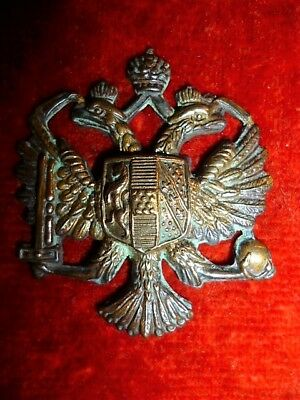 1st Queen's Dragoon Guards Brass Metal Cap Badge, KK 1885, WW2