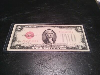 1928 G $ 2 Dollar Bill Red Seal Note