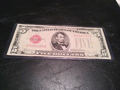 1928E $5 Dollar Bill Us Note Legal Tender Paper Money Currency