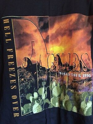 Vintage Eagles World Tour Concert Shirt 1995 XL Hell Freezes Over   NEVER WORN!