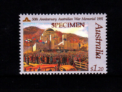 1991 In Memory of Those Who Served $1.20 War Memorial - MUH Specimen Stamp
