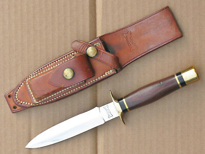 vintage Ralph Bone Lubbock Tex custom boot knife dagger & sheath