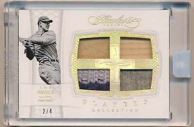 LOU GEHRIG 2016 Flawless Players Collection Prime QUAD BAT PATCH /4 YANKEES HOF