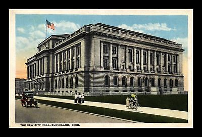 Dr Jim Stamps Us New City Hall Cleveland Ohio Street View Postcard Old Car
