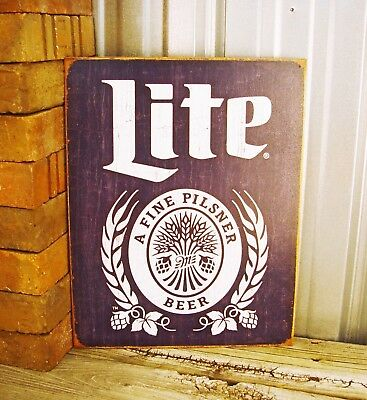 a1e942bab6 Miller Lite Beer Brewing Company High Life Metal Tin Sign Vintage Bar Man  Cave