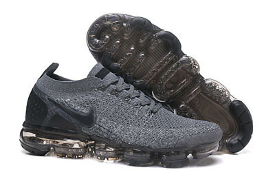 NIKE AIR VaporMax Flyknit 2.0 2018 MEN Gray and Black Running Trainers Shoes