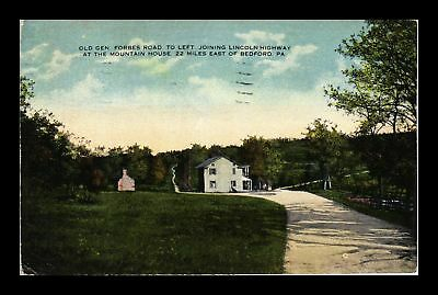 Dr Jim Stamps Us General Forbes Road Mountain House Bedford Postcard