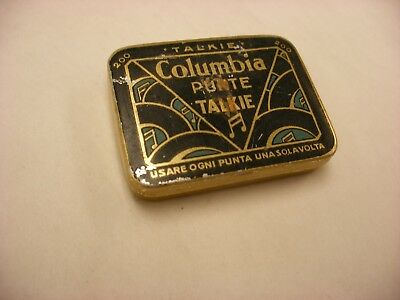 Phonograph Victrola Gramophone - Needle Tin - Columbia Punte Talkie