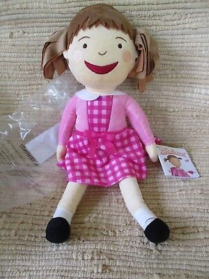 "Kohl's Cares Pinkalicious Doll 16"" Tall Plush Stuffed Pink +Plaid Clothes"