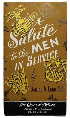 """Original US WWII """"Salute To The Men In Service"""" 1942 Booklet"""