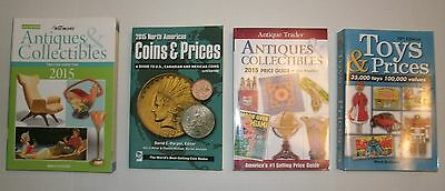 4 Collector's Books: Antiques & Collectibles / Toys & Prices / Coins & Prices
