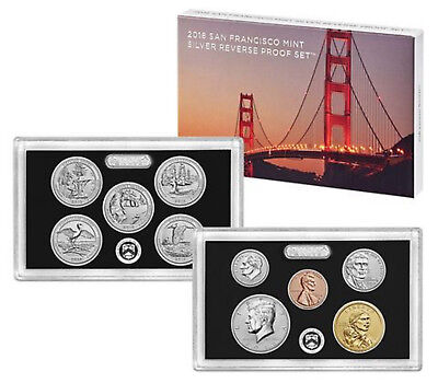 2018 S Silver Reverse Proof set with complete OGP-  -.