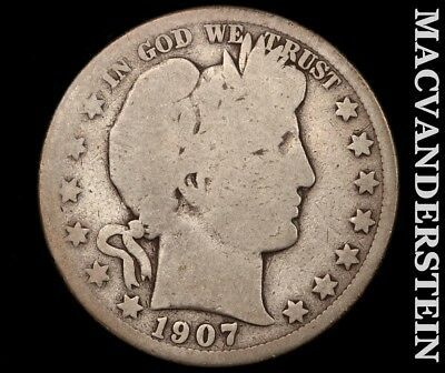 1907-O Barber Half Dollar-Scarce Better Date!! #c9258