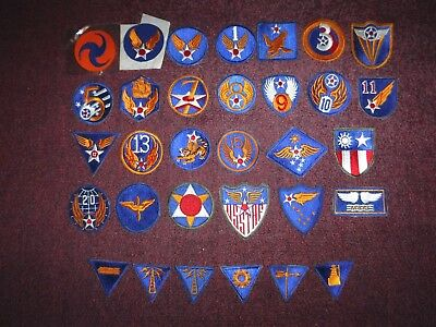 U.S. Army Air Corps World War II Patch Lot