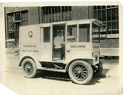 Old York Pa Photo Sanitary Milk Co (Electric Truck) Cream & Butter York County