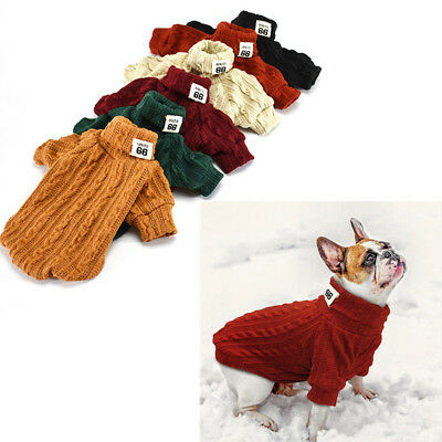 Soft Hand Knit Dog Sweaters Clothing Chihuahua Clothes for Small Dog Pet Puppy