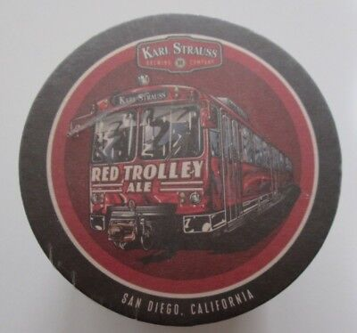 Sleeve/100 Beer Coasters-Karl Strauss Brewing Company-Red Trolley Ale-San Diego