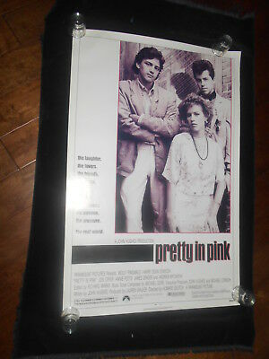 Pretty In Pink  Original Rolled One Sheet  Brat Pack  Molly Ringwald  Jon Cryer