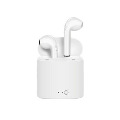 i7S TWS Bluetooth Wireless Earbuds In-Ear Earphones W/Charger Box White Headset