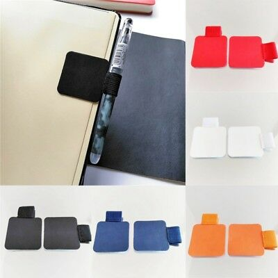 Self-adhesive Leather Pen Clip Pencil Elastic Loop for Notebooks Pen Holder Nice
