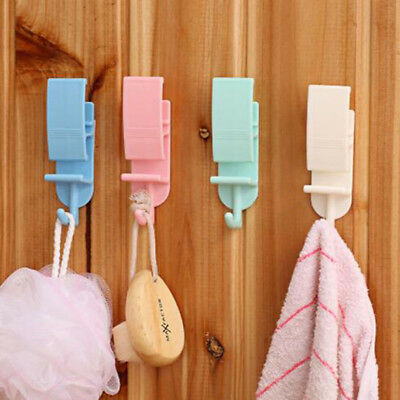 Self Adhesive Wall Hooks Coat Hat Clothes Robe Holder Rack Mounted Hanger HZ