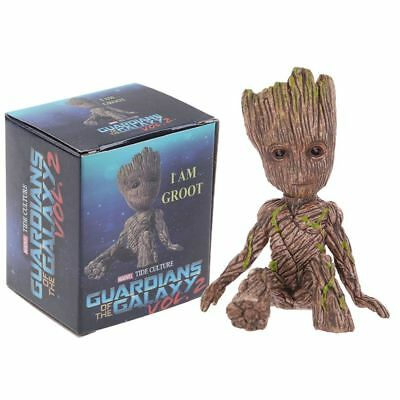"2"" Guardians of The Galaxy Vol. 2 Baby Sitting Groot Figure Cute Toy Xmas Gift"