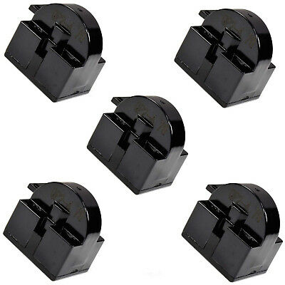5-Pack HQRP QP2-4.7 4.7 Ohm 1-Pin PTC Starter/Start Relay for Danby Coolers