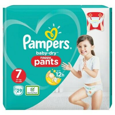 Pampers Baby Dry Pants Gr.7 Extra Large Plus 17+kg Value Pack, 29 Stück Windeln