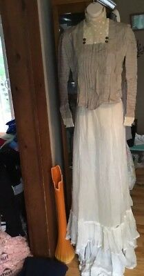 Antique  Victorian Blouse and Skirt Small Ornate