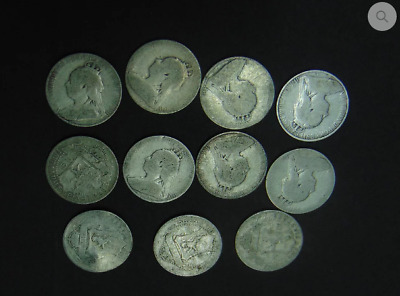 Cyprus 1901 Queen Victoria Four and Half Piastres Coins VF