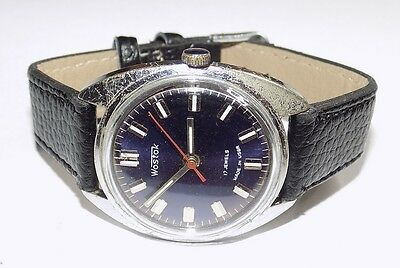 Vintage WOSTOK Soviet Russian Mechanical Men's Watch VOSTOK, 1980,Caliber 2409 A