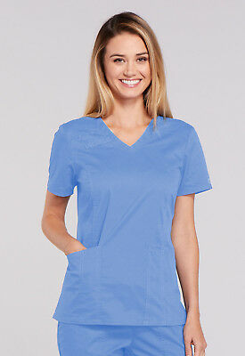 Cherokee Workwear Women's Core Stretch V-Neck Top - 4710 FREE SHIPPING!