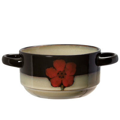 Pfaltzgraff Painted Poppies Double Handled Soup Bowl