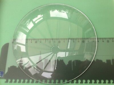 Round Clock Glass, Convex, Rough Edge 178mm (7 Inch), 2.1mm Thick
