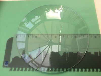 Round Clock Glass, Convex, Rough Edge 183mm (7 3/16 Inch), 2.1mm Thick