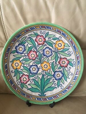 Charlotte Rhead Art Deco Crown Ducal Large Charger - Excellent Condition, Signed