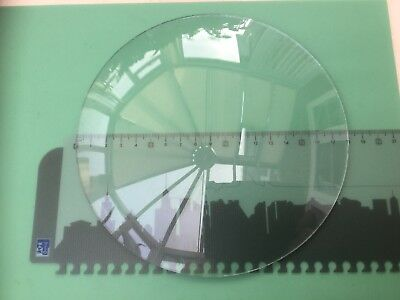 Round Clock Glass, Convex, Rough Edge 180mm (7 1/16 Inch), 2.1mm Thick