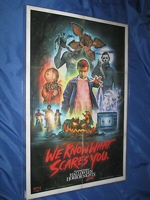 9777a278 HALLOWEEN HORROR NIGHTS 2018 Universal Studios Exclusive Poster ~STRANGER  THINGS