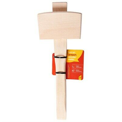 Handmade Leather Wooden Wood Working Carving Mallet 22.5cm F Woodwork Carpentry