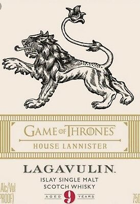 Game Of Thrones Scotch Whisky - House Lannister Limited Edition- Tube & Bottle