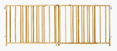 North States 4649 Supergate Extra Wide Swing Baby/Pet Gate, Wood