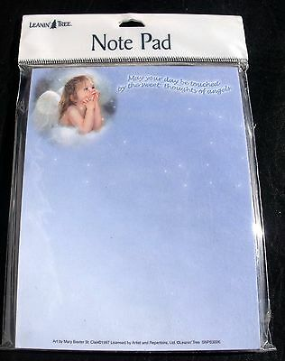 New LEANIN' TREE Small Note Pad Sweet Thoughts of Angels SNP63006 Recycled Paper