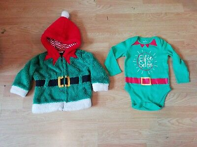 Baby Boys Girls Elf Fleece Jacket 9-12 Months Chrismas Jumper Elf Vest