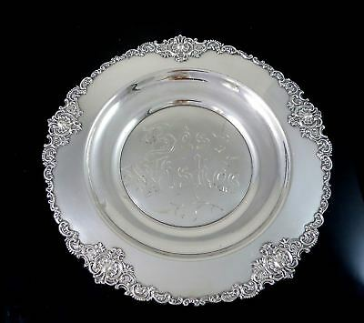 """Victorian STANDARD SILVER CO TORONTO Silverplate """"BEST WISHES"""" Ornate Plate"""