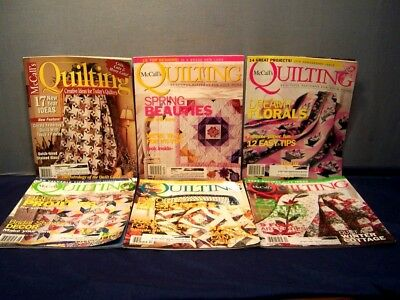 LOT of 6 McCALL'S QUILTING MAGAZINES COMPLETE YEAR 2003 FEB.-DEC. QUILT PATTERNS