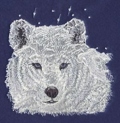 Embroidered Ladies Short-Sleeved T-Shirt - Winter Wolf M1238 Size S - XXL