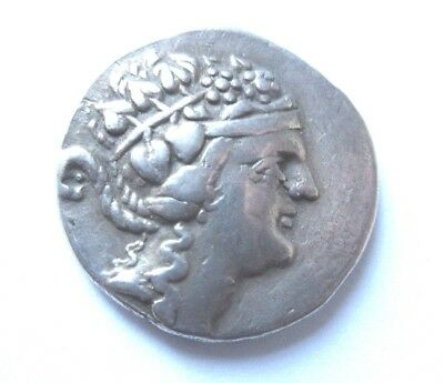 Silver-Tetradrachm of Thasos in Thrace.   Rv. Herakles standing left