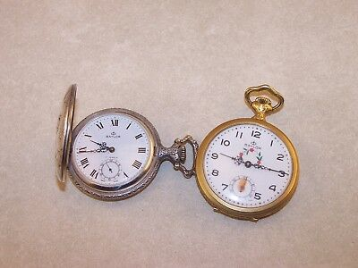 Vintage Baylor Swiss Made Manual Wind pocket Watches