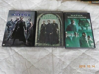 The Matrix (DVD, 1999)ALSO MATRIX RELOADED MATRIX REVOLUTIONS